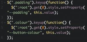 css variable javascript code