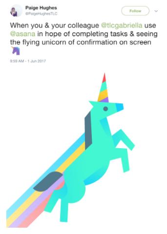 asana workflow unicorn